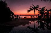 Romantic Maldivian Sunset Beach Dinner with candlelight