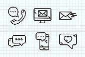 Online Messaging Doodle Drawing