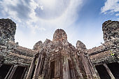 ta prohm temple at Angkor Wat complex Khmer architecture heritage in Siem Reap Cambodia