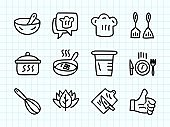 Kitchenware Doodle Drawing