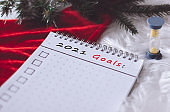 2021 New Year goals,  planning,  dreams and wishes. Advent activities
