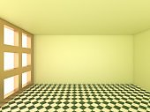 3d render, Abstract Empty Room