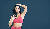 Fitness woman in sports clothing Stock photo