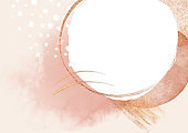 Conteporary luxurious beige abstract painted background texture with gold glitter