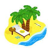 Isometric sea coast concept