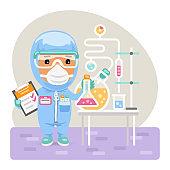 Cartoon Medical Chemist