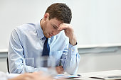 businessman having problem in office