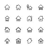 House icon related to real estate icon set