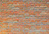 wall made with red bricks