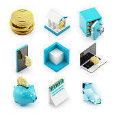 Banking 3D Icons