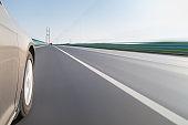 car driving on bridge