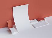 Blank mockup for presentation design