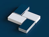 Blank Business Cards Mockup