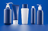 Cosmetics bottles and products