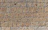 wall makes with many bricks of TUFA