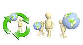 Eco concept. Caring for ecology