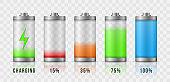 Battery charge accumulators.