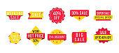 Promotional sale badges.