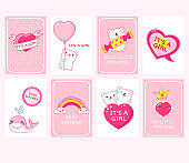 Baby shower invitation cards collection