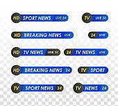 TV news bar.