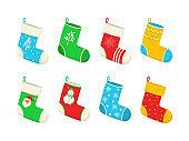 Christmas colorful socks.