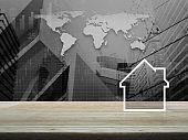 Business real estate concept, Elements of this image furnished by NASA