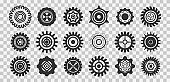 Gears icon collection.