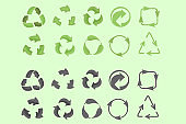 Universal recycling symbol.