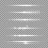 Horizontal light rays.