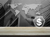 Business money insurance and protection concept, Elements of this image furnished by NASA