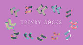 Set trendy socks.