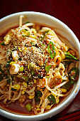 Korean spicy marinated bean sprout