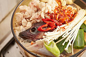 Korean spicy fish hot pot