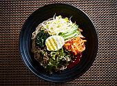 Korean spicy mixed soba noodle