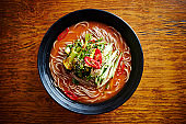 Korean spicy soba noodle
