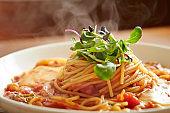 Tomato sauce spaghetti