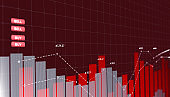 Abstract Business Trends Graphs and charts