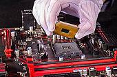 Inserting a CPU in a mainboard