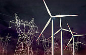 Power supply with wind energy