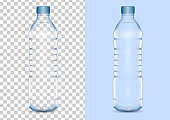 Realistic drinking water bottle vector illustration