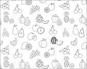 Simple and cute fruit pattern
