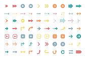 Set of arrow web icons