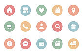 Set of simple icons for online shop