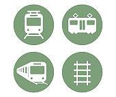 Train icon on the white background