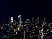 Light's of Los Angeles - Drone View at night