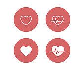 Set of Heartbeat icon