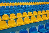 Empty Stadium seats background