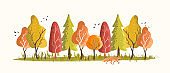 Autumn Woodland Forest Creative pattern