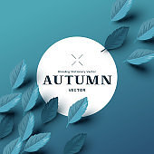 Autumn Background Design With Leaves