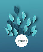 Autumn Leaves Abstract Background Layout